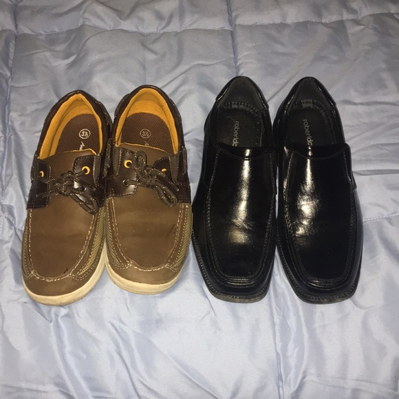 American Eagle By Payless Shoes Lot Of Boys Dress Black And Brown